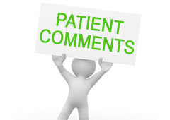 PATIENT COMMENTS